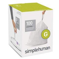 avfallspose kode G hvit plast 5 x 20 pakning (100 poser)