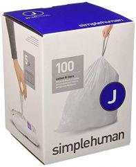 avfallspose kode J hvit plast 5 x 20 pakning (100 poser)