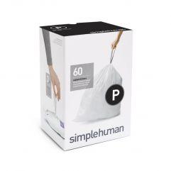 avfallspose kode P hvit plast 3 x 20 pakning (60 poser)