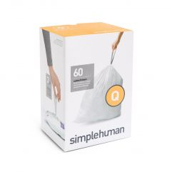 avfallspose kode Q hvit plast 3 x 20 pakning (60 poser)