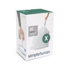 avfallspose kode X hvit plast 3 x 20 pakning (60 poser)