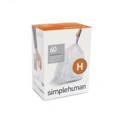 avfallspose kode H klar plast 3 x 20 pakning (60 poser)